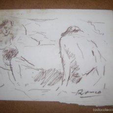 Arte: DIBUJO ORIGINAL DE DIONISIO ROMEO MD 21X15CM. Lote 56388038