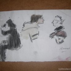 Arte: DIBUJO ORIGINAL DE DIONISIO ROMEO MD 28X17CM. Lote 56465214