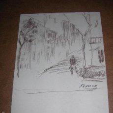 Arte: DIBUJO ORIGINAL DE DIONISIO ROMEO MD 27X19CM. Lote 56465492
