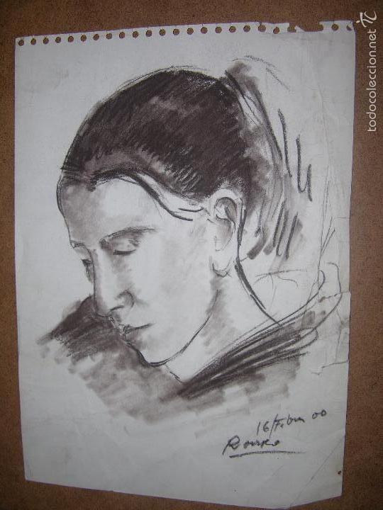 DIBUJO ORIGINAL DE DIONISIO ROMEO MD 29X21CM (Arte - Dibujos - Contemporáneos siglo XX)