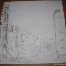 Arte: DIBUJO ORIGINAL DE DIONISIO ROMEO SITJES MD 30X29CM. Lote 56465839