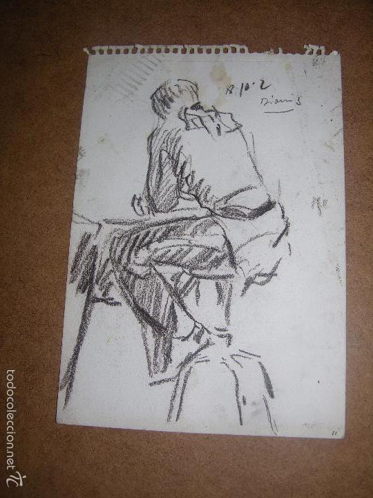 DIBUJO ORIGINAL DE DIONISIO ROMEU MD 19X15CM (Arte - Dibujos - Contemporáneos siglo XX)
