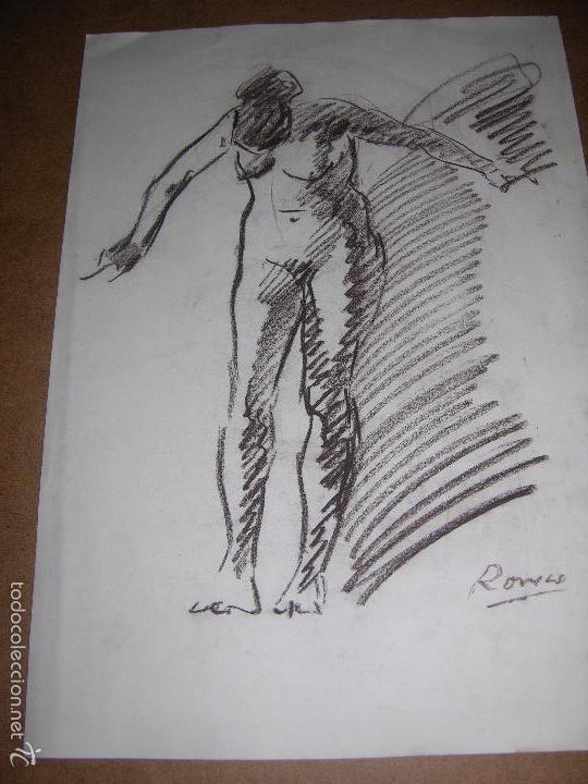 DIBUJO ORIGINAL DE DIONISIO ROMEU MD 42X30CM (Arte - Dibujos - Contemporáneos siglo XX)
