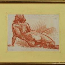 Arte: C2-060. DESNUDO DE MUJER. SANGUINA. DIBUJO AL PAPEL. J. CADENA PORTAL. SIGLO XX. . Lote 56609416