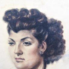 Arte: RETRATO DE MUJER - FIRMADO SOLÁ ROMÁ 1947. Lote 56617007