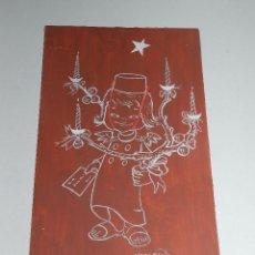 Arte: (N6) DIBUJO ORIGINAL CRISMA NAVIDEÑO ( NAVIDAD ) POR HODLER - 17 X 28 CM, BUEN ESTADO. Lote 56698069
