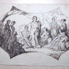Arte: ANÓNIMO. DIBUJO S.XVIII ALEGORÍA MÚSICA. MALLORCA. BALEARES. Lote 56713436