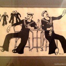 Arte: RICARDO OPISSO I SALA (TARRAGONA, 1880 – BARCELONA, 1966) DIBUJO ORIGINAL A TINTA. Lote 56800744