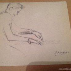 Arte: BARRADAS. TOCANDO EL PIANO.. Lote 56805472