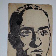 Arte: ANTIGUO DIBUJO PLUMILLA DE EUSEBIO MARTIN RODRIGUEZ FUNDADOR COMITE ENTRENADORES RFEF AÑOS 50. Lote 56834699