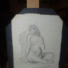 Arte: LLUIS MORATO. DIBUJO A LAPIZ. DESNUDO FEMENINO. Lote 97934592