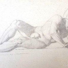 Arte: DIBUJO - ESTUDIO CLÁSICO - GUERRERO ESPARTANO - LÁPIZ - SIGLO XIX. Lote 56921764