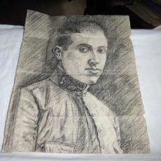 Arte: MILITAR DIBUJO A CARBONCILLO . Lote 56939088