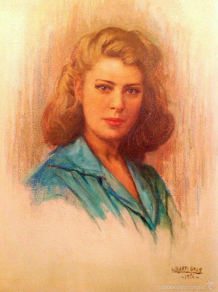 Arte: Cuadro Del Pintor LUIS MARTÍ GRAS Pintor Catalán Nacido En Barcelona En 1887 Medidas 65X50CM - Foto 2 - 106044910