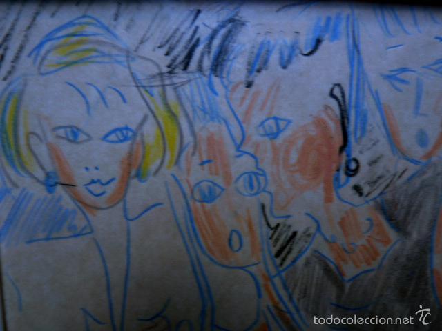 Arte: extraño dibujo a colores.Firma ilegible.1991 - Foto 3 - 56982642