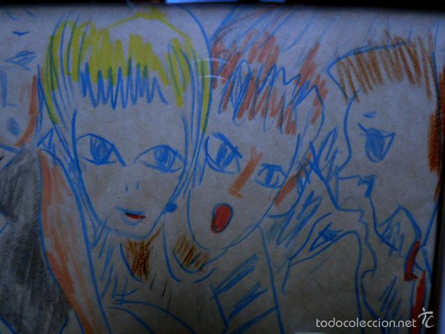 Arte: extraño dibujo a colores.Firma ilegible.1991 - Foto 4 - 56982642