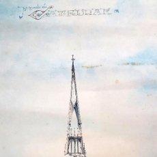 Arte: CATEDRAL - 1906 - ARQUITECTURA - MODERNISMO - NEOGÓTICO - BARCELONA. Lote 57012320