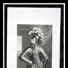 Arte: 1852 - VIFREDO EL VELLOSO PRIMER CONDE DE BARCELONA - GRABADO - ENGRAVING - GRAVURE - 245X150MM. Lote 57016074