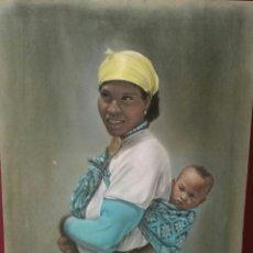 Arte: RETRATO MUJER AFRICANA DIBUJO PASTELES. Lote 57044257
