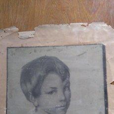 Arte: PRECIOSO RETRATO A CARBONCILLO DE UN NIÑO 1900. Lote 57218346
