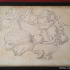 Arte: DIBUJO BODEGON A LAPIZ O CARBONCILLO DEL 1989. Lote 57272549