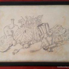 Arte: DIBUJO BODEGON A LAPIZ O CARBONCILLO DEL 1989. Lote 57272622