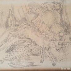 Arte: BODEGON DIBUJO A LAPIZ O CARBONCILLO FIRMADO 1989. Lote 57272679
