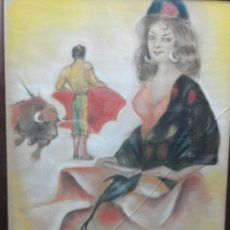 Arte: PASTEL DE TOROS XX. Lote 57298812