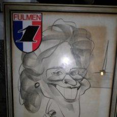 Arte: DIBUJO ANTIGUO FIRMA ILEGIBLE BARCELONA 1987. Lote 57526737