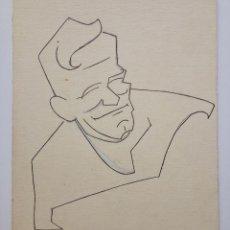 Arte: INTERESANTE RETRATO ORIGINAL A PLUMILLA, AÑOS 20, ART DECO, CALIDAD. Lote 57592682