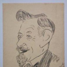 Arte: RETRATO A CARBONCILLO ORIGINAL FIRMADO Y FECHADO 1926, ART DECO, POSIBLEMENTE ESCUELA FRANCESA. Lote 78491077