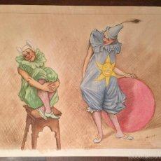 Arte: MONFORT BUEN DIBUJO A LAPIZ ACUARELADO. Lote 57633633