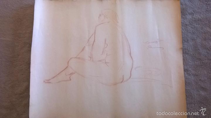 DIBUJO FIRMADO SALVADOR VIVÒ 1925.MEDIDA 43 X 53. (Arte - Dibujos - Contemporáneos siglo XX)