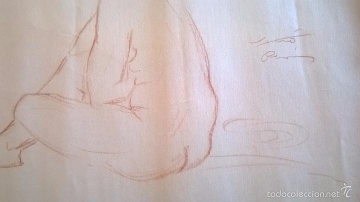 Arte: dibujo firmado Salvador Vivò 1925.Medida 43 x 53. - Foto 2 - 57654335