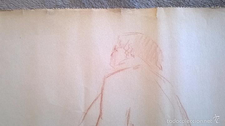Arte: dibujo firmado Salvador Vivò 1925.Medida 43 x 53. - Foto 3 - 57654335