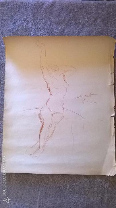 Arte: dibujo firmado Salvador Vivò 1925.Medida 43 x 53. - Foto 2 - 57654366