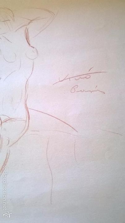 Arte: dibujo firmado Salvador Vivò 1925.Medida 43 x 53. - Foto 3 - 57654366