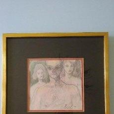 Arte: DIBUJO COLOR ENMARCADO, FIRMADO RASPALL ( JORGE CLARAMUNT RASPALL ). Lote 57680758