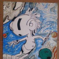 Arte: DIBUJO ORIGINAL FIRMADO R. CANTELI 96. Lote 57682611