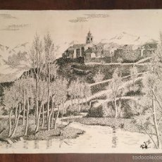 Arte: ISABEL GARCÉS MUY BUEN DIBUJO A TINTA CON PUNTOS . Lote 57761925