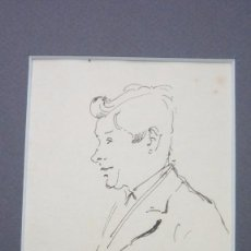 Arte: JOAN MATAMALA FLOTATS (1893-1977). RETRATO. DIBUJO A TINTA. 12 X 9 CTMS. . Lote 57889842