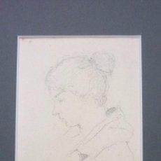 Arte: JOAN MATAMALA FLOTATS (1893-1977). RETRATO FEMENINO. DIBUJO A LÁPIZ. 12 X 9 CTMS. . Lote 57889930