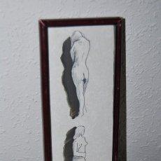 Arte: DIBUJO ORIGINAL DE FERRÉ MARTRA - TINTA Y ACUARELA - PINTURA CATALANA. Lote 57915301
