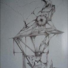 Arte: JOSÉ ARSENIO AMPARÁN (SANTANDER) IMPRESIONANTE DIBUJO SURREALISTA DE FICCIÓN ENMARCADO. Lote 51456803