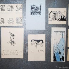 Arte: COLECCIÓN DE 10 PEQUEÑOS DIBUJOS SIN FIRMAR, PRINCIPIOS SIGLO XX.. Lote 58014397