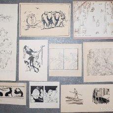 Arte: COLECCIÓN DE 10 PEQUEÑOS DIBUJOS SIN FIRMAR, PRINCIPIOS SIGLO XX. . Lote 58049751