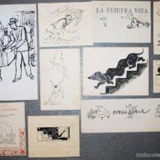 Arte: COLECCIÓN DE 10 PEQUEÑOS DIBUJOS SIN FIRMAR, PRINCIPIOS SIGLO XX.. Lote 58050080