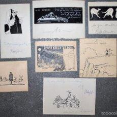 Arte: COLECCIÓN DE 9 PEQUEÑOS DIBUJOS DE PERE PRAT UBACH, FIRMADOS, PRINCIPIOS SIGLO XX.. Lote 58061938