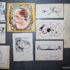 Arte: COLECCIÓN DE 9 PEQUEÑOS DIBUJOS DE PERE PRAT UBACH, FIRMADOS, PRINCIPIOS SIGLO XX.. Lote 58062063