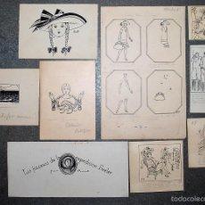 Arte: COLECCIÓN DE 9 PEQUEÑOS DIBUJOS DE PERE PRAT UBACH, FIRMADOS, PRINCIPIOS SIGLO XX.. Lote 58062785